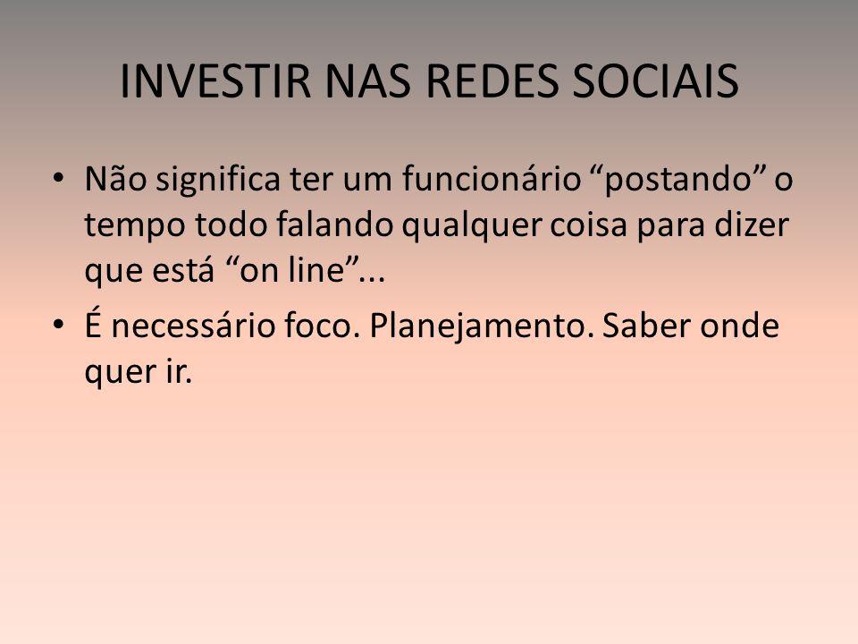 INVESTIR NAS REDES SOCIAIS