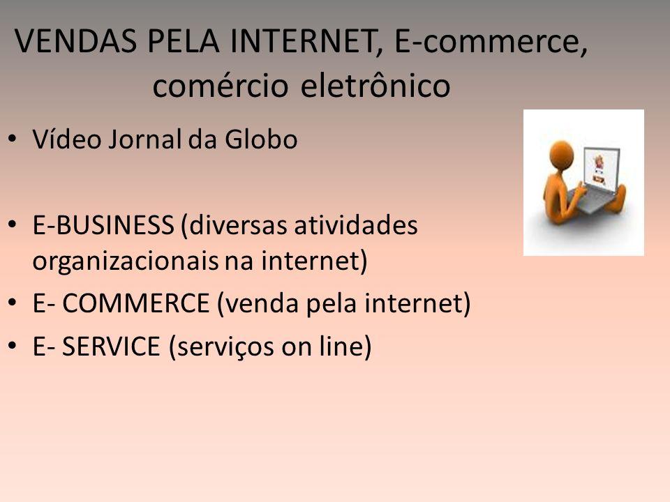 VENDAS PELA INTERNET, E-commerce, comércio eletrônico
