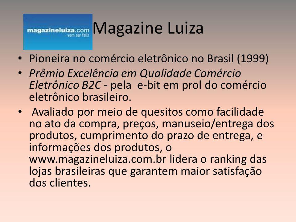 Magazine Luiza Pioneira no comércio eletrônico no Brasil (1999)