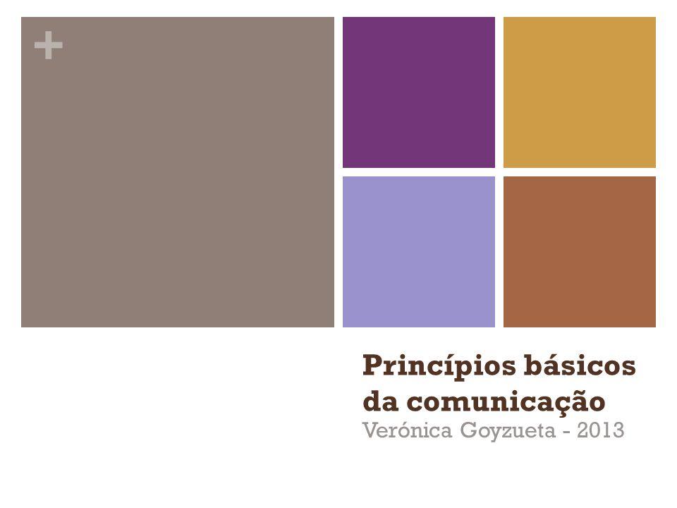 Princípios básicos da comunicação