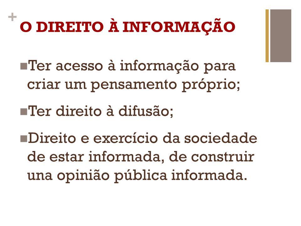 Ter acesso à informação para criar um pensamento próprio;