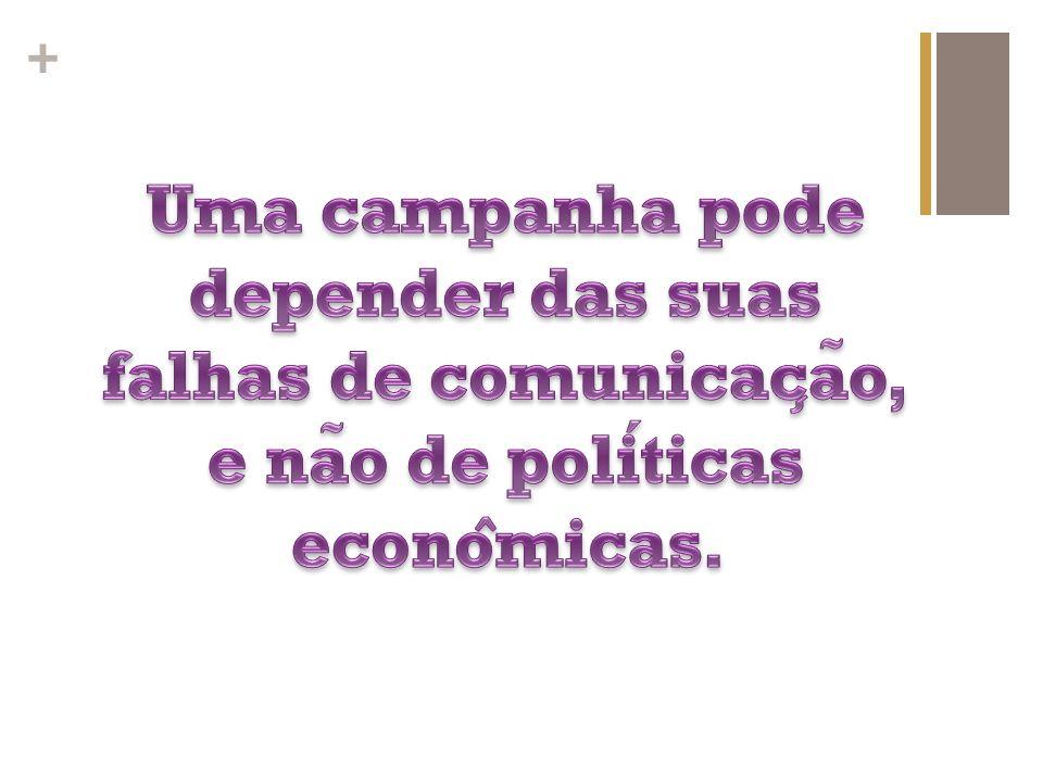 Uma campanha pode depender das suas falhas de comunicação, e não de políticas econômicas.