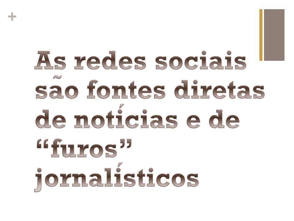 As redes sociais são fontes diretas de notícias e de furos jornalísticos