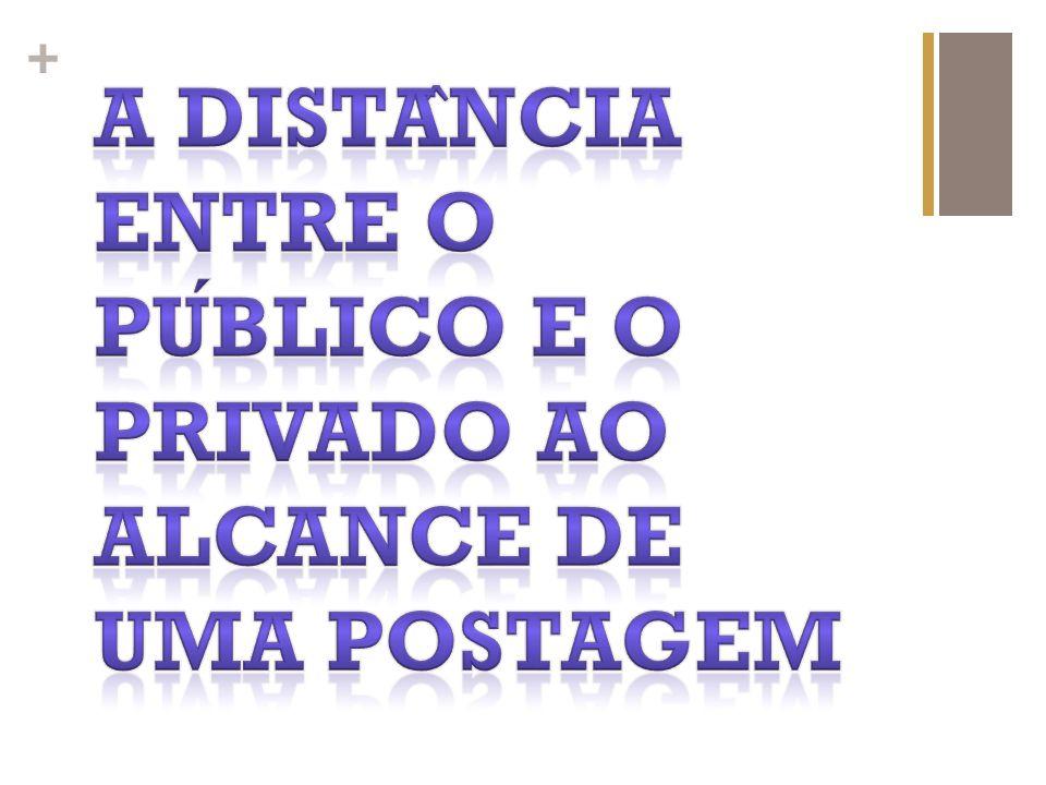 A distância entre o público e o privado ao alcance de uma postagem