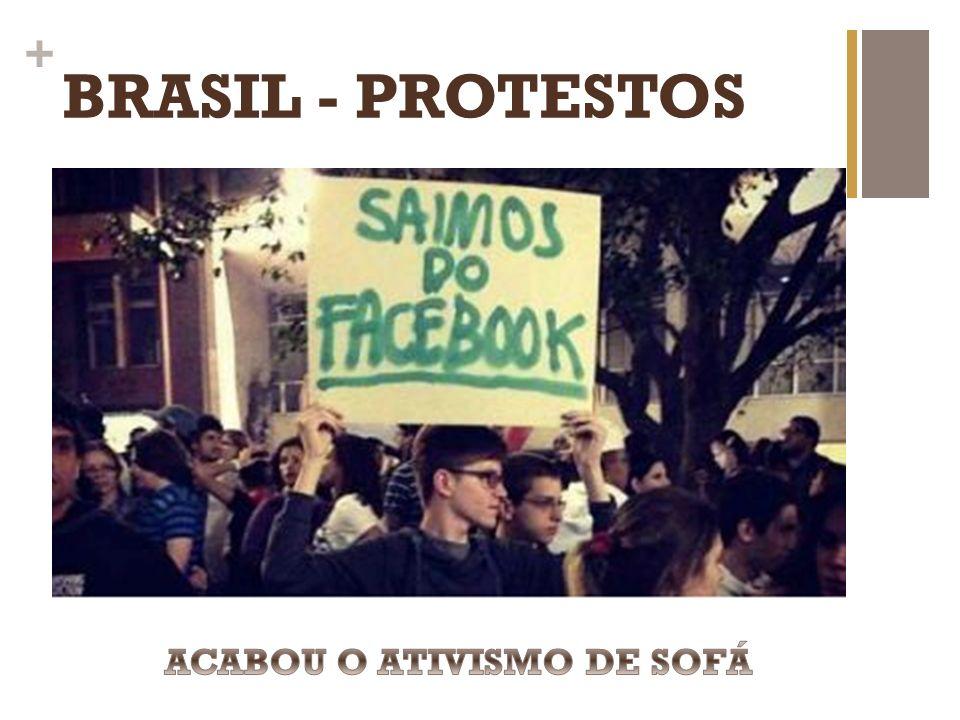 BRASIL - PROTESTOS ACABOU O ATIVISMO DE SOFÁ