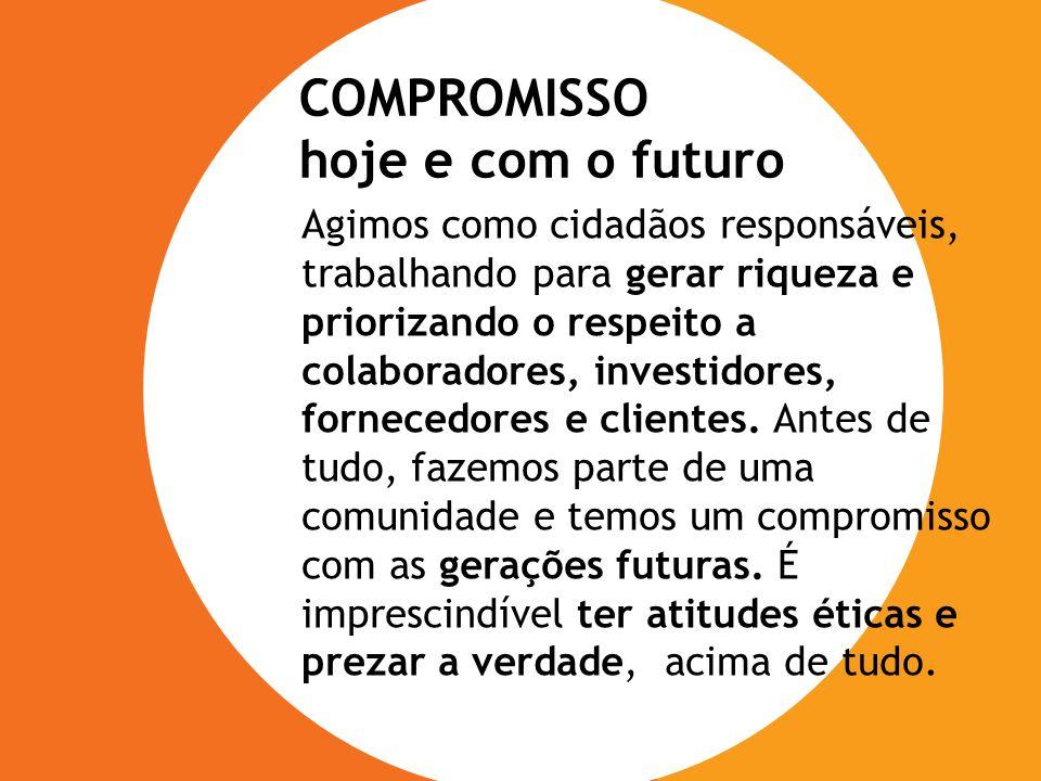 COMPROMISSO COMPROMISSO hoje e com o futuro