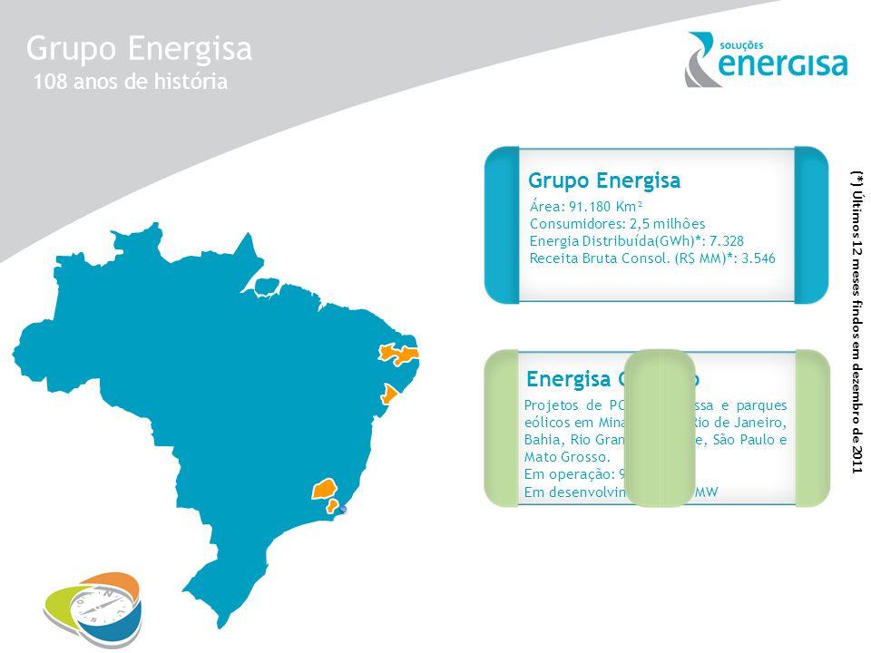 Grupo Energisa 108 anos de história Grupo Energisa Energisa Geração