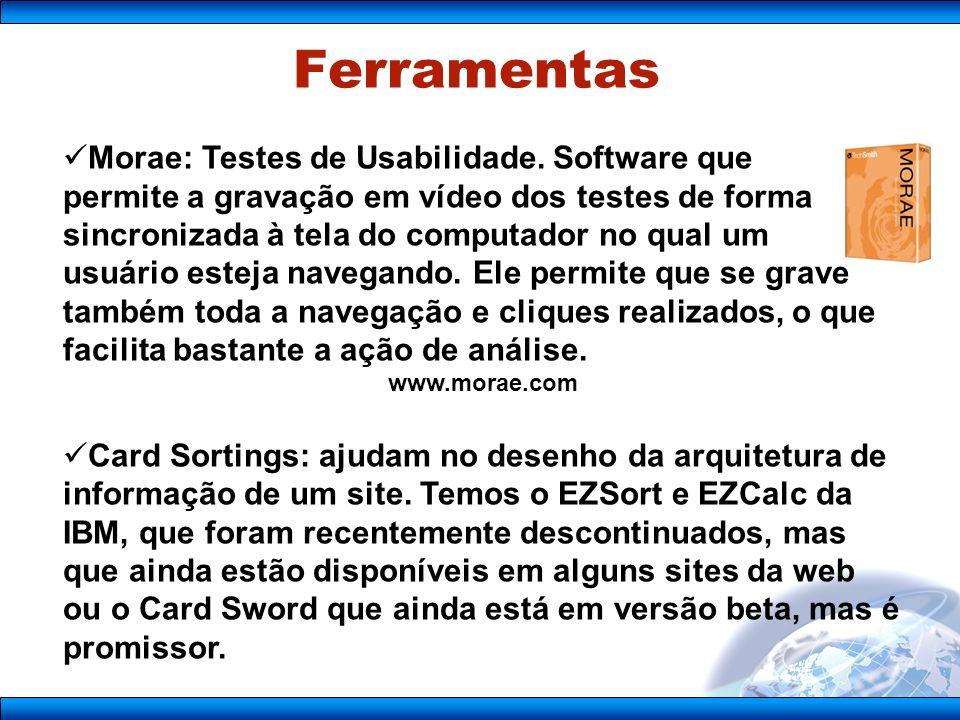Ferramentas Morae: Testes de Usabilidade. Software que