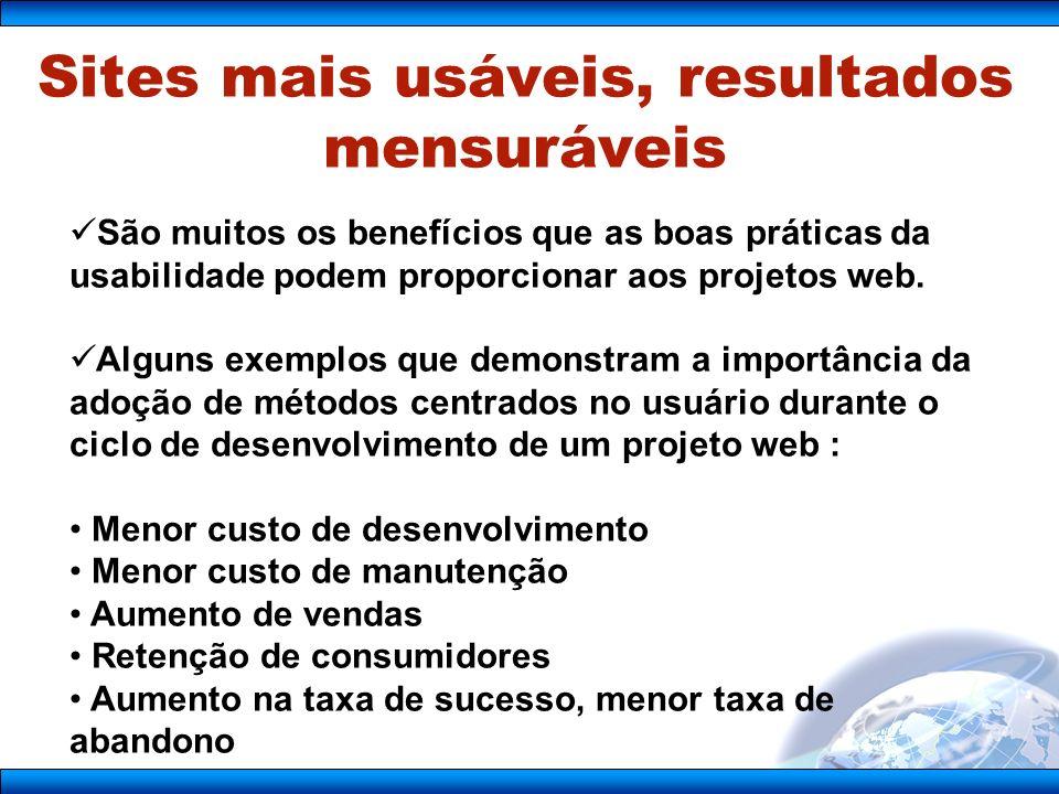 Sites mais usáveis, resultados mensuráveis