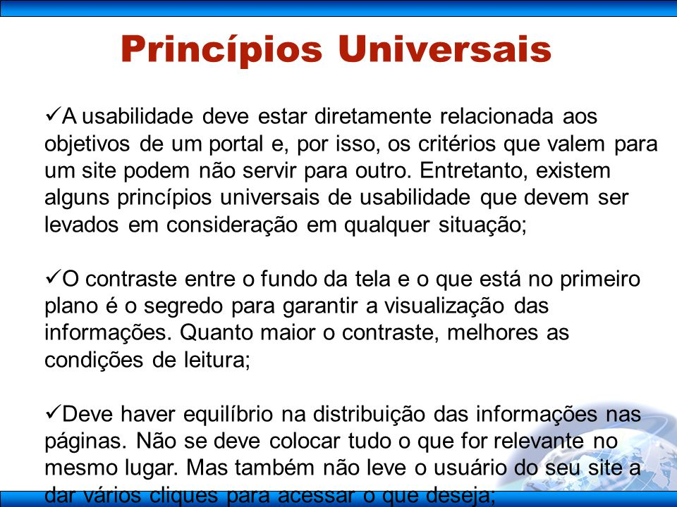 Princípios Universais