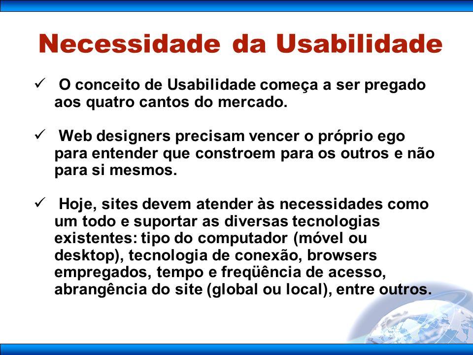 Necessidade da Usabilidade
