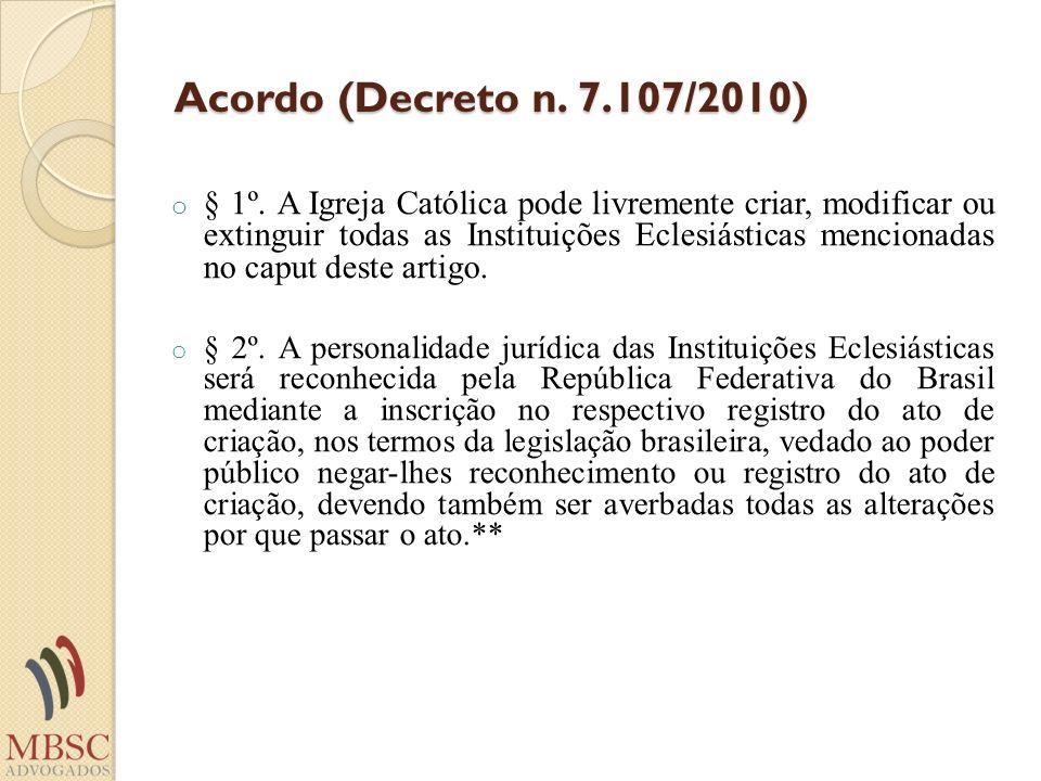Acordo (Decreto n. 7.107/2010)