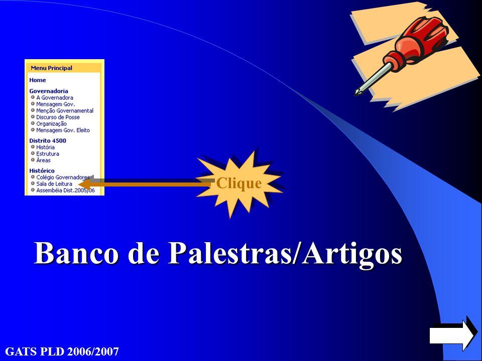 Banco de Palestras/Artigos