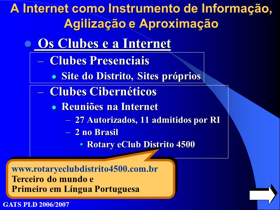 A Internet como Instrumento de Informação, Agilização e Aproximação