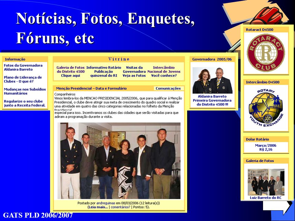 Notícias, Fotos, Enquetes, Fóruns, etc