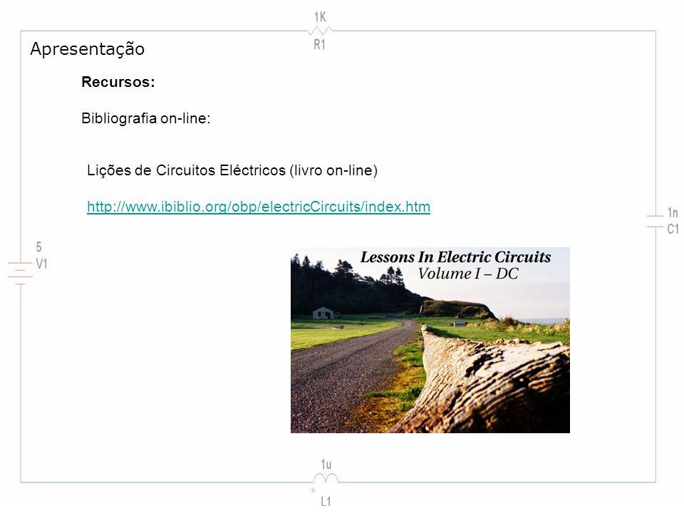 Apresentação Recursos: Bibliografia on-line: