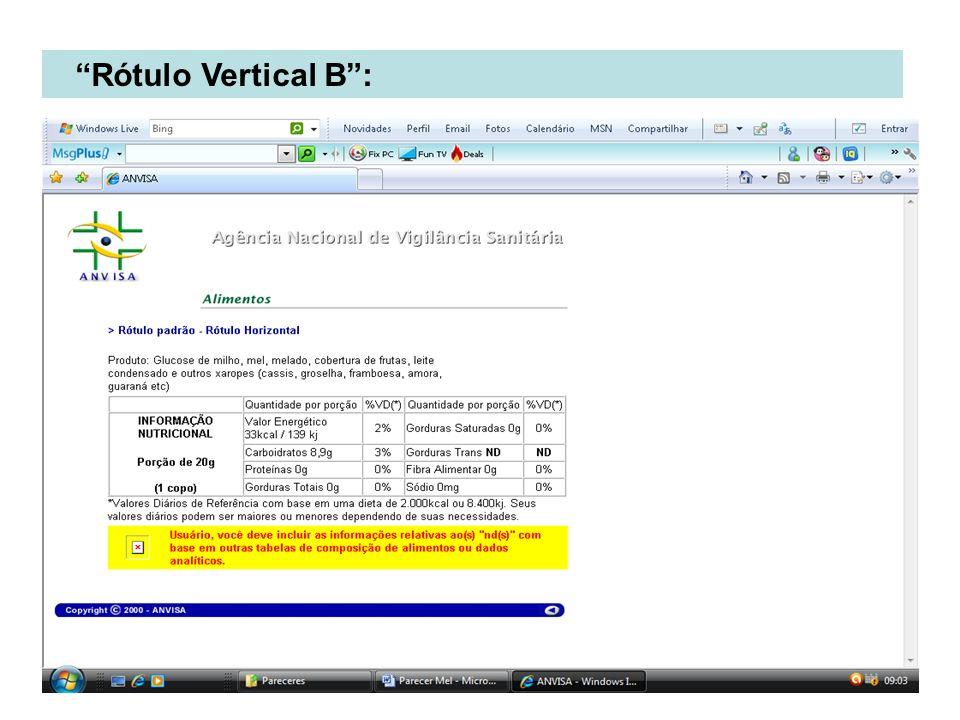 Rótulo Vertical B :