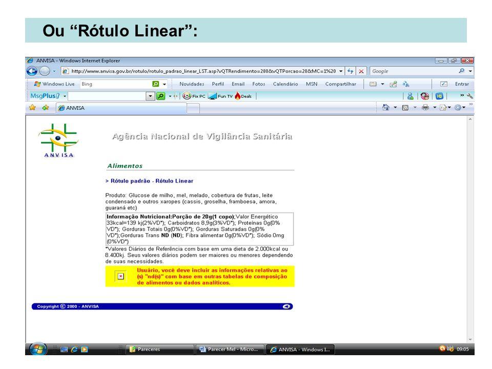 Ou Rótulo Linear :