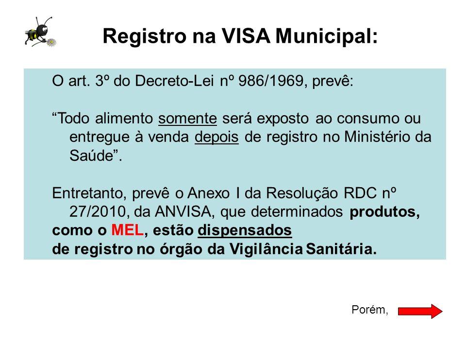 Registro na VISA Municipal: