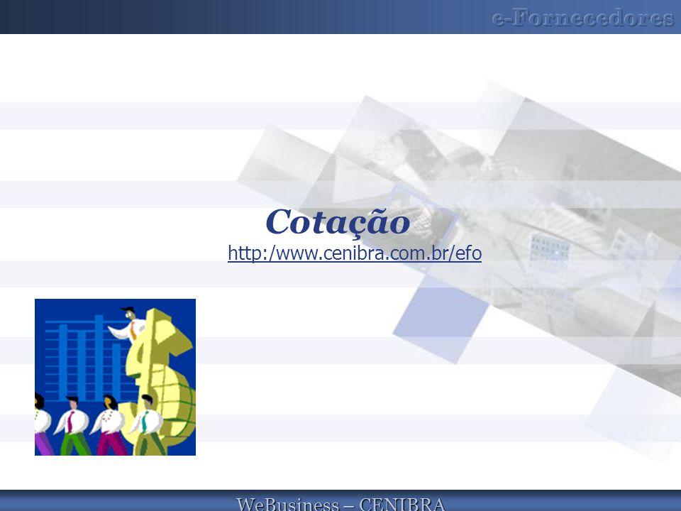 Cotação http:/www.cenibra.com.br/efo