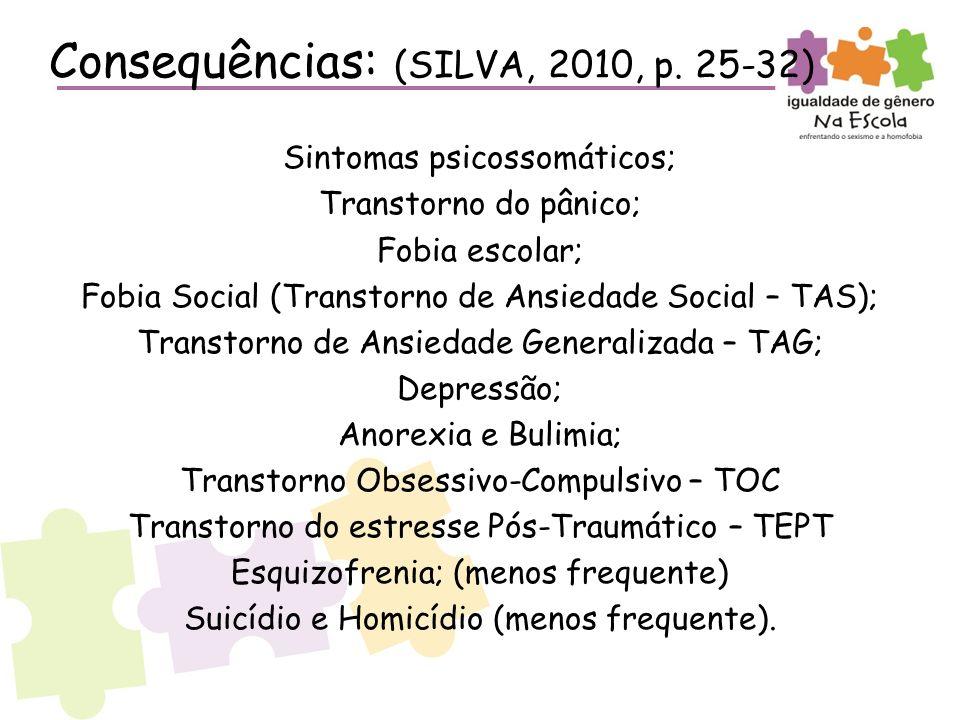 Consequências: (SILVA, 2010, p. 25-32)