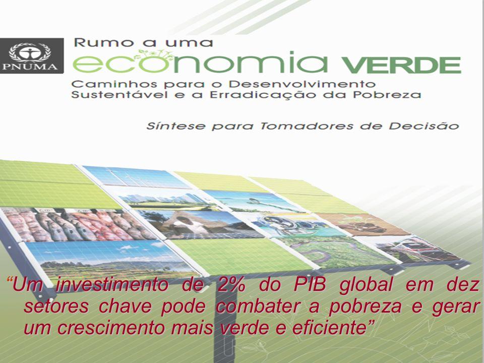 Um investimento de 2% do PIB global em dez setores chave pode combater a pobreza e gerar um crescimento mais verde e eficiente