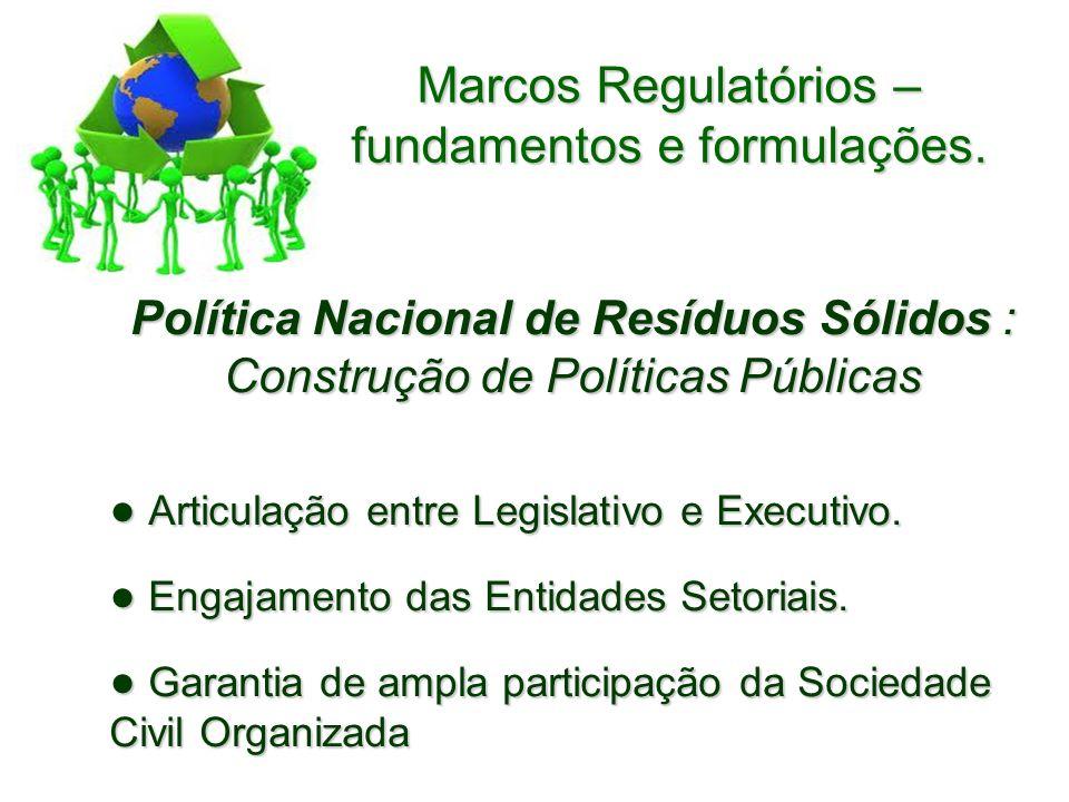 Marcos Regulatórios – fundamentos e formulações.
