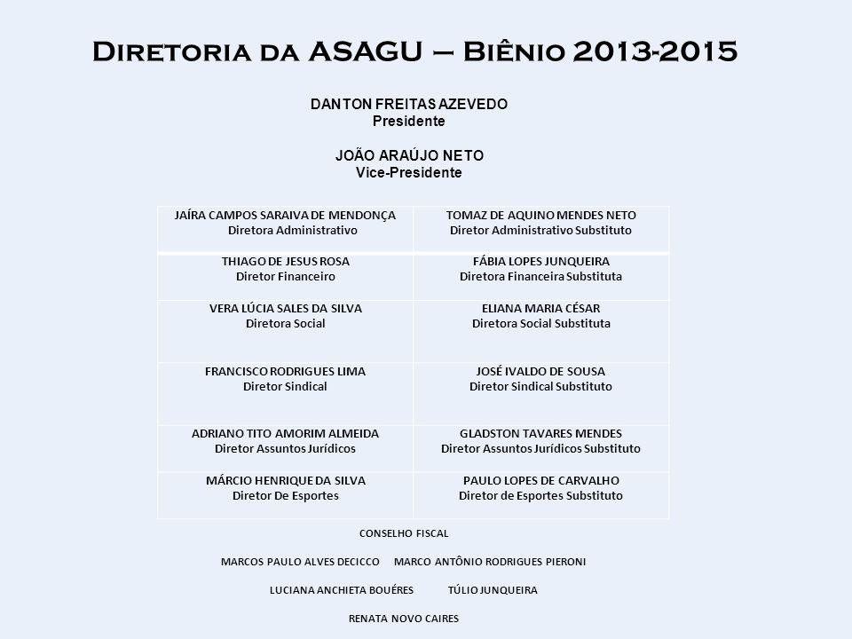 Diretoria da ASAGU – Biênio 2013-2015