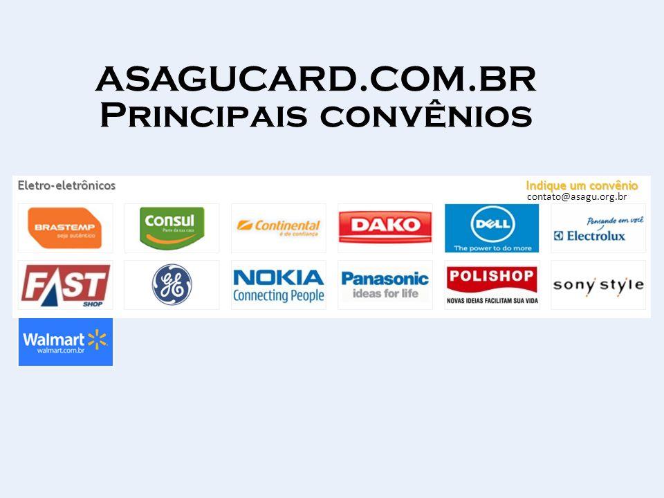 ASAGUCARD.COM.BR Principais convênios