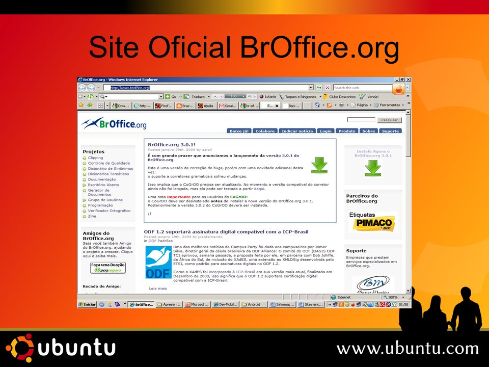 Site Oficial BrOffice.org