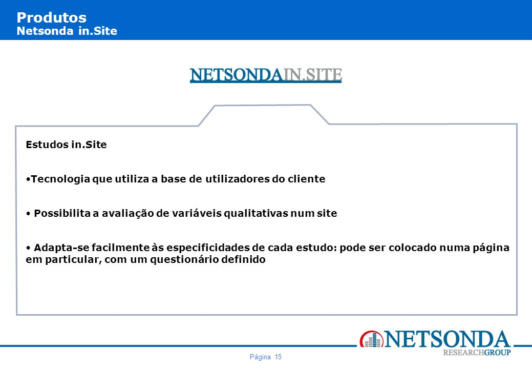 Produtos Netsonda in.Site
