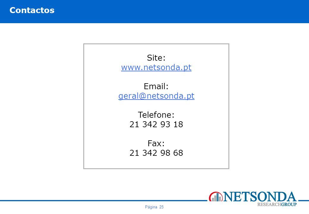 Contactos Site: www.netsonda.pt Email: geral@netsonda.pt Telefone: 21 342 93 18 Fax: 21 342 98 68