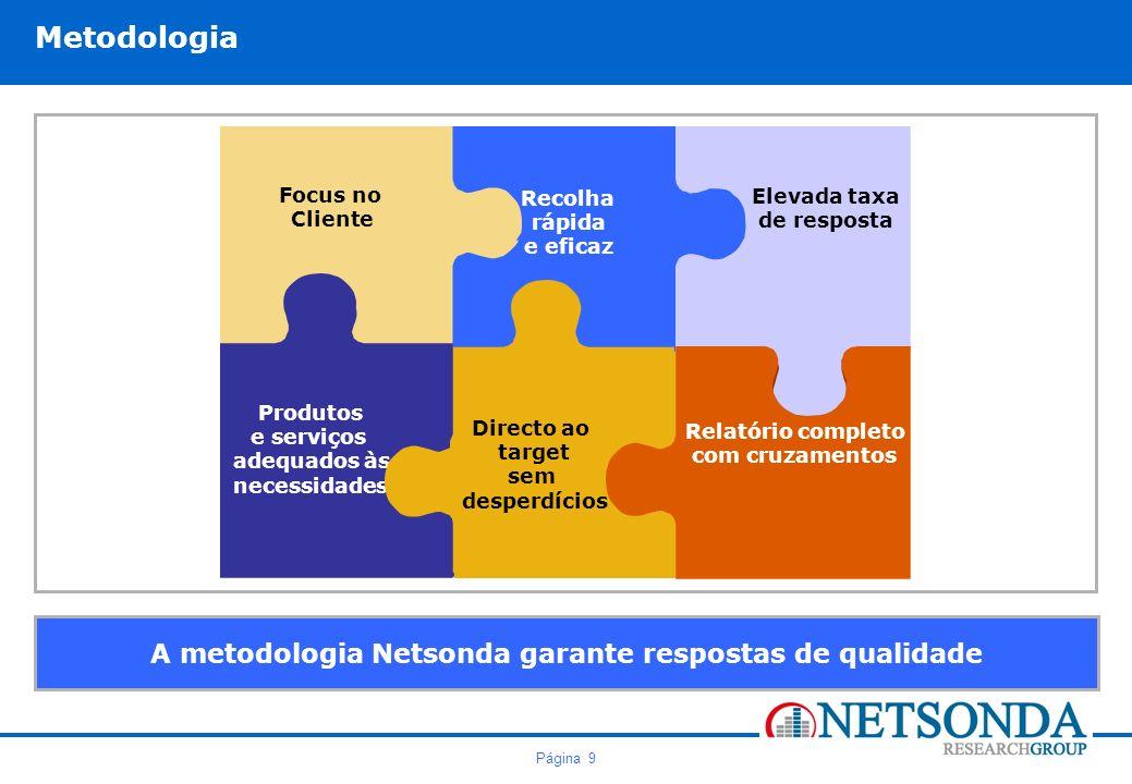 A metodologia Netsonda garante respostas de qualidade
