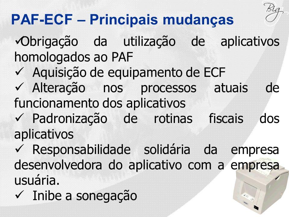 PAF-ECF – Principais mudanças