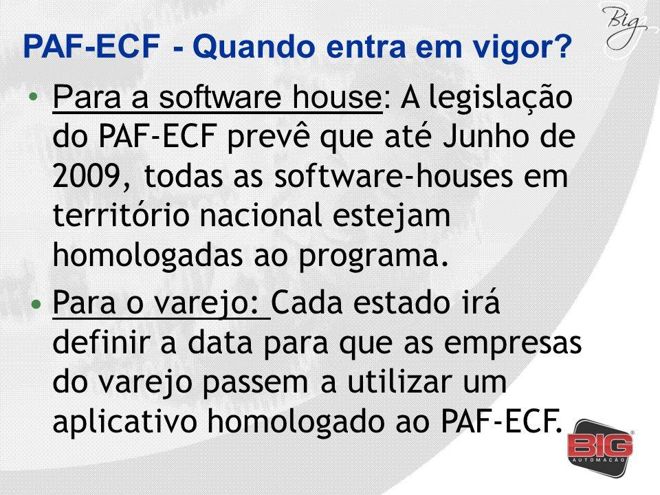 PAF-ECF - Quando entra em vigor