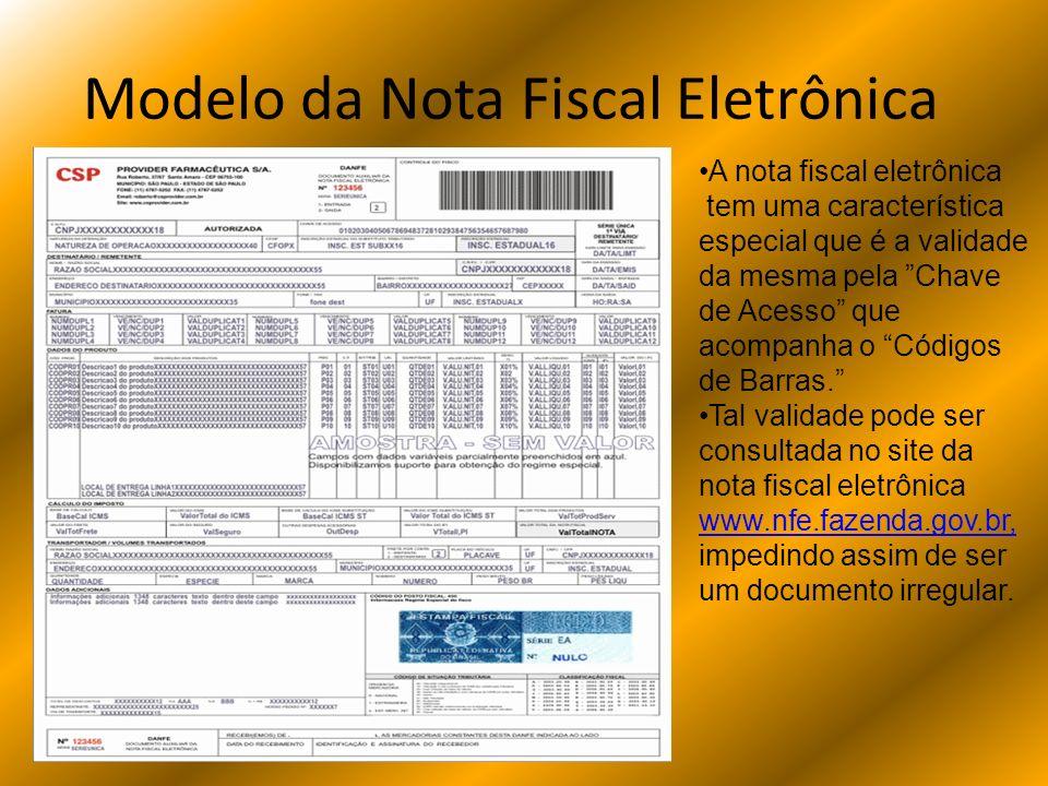 Modelo da Nota Fiscal Eletrônica