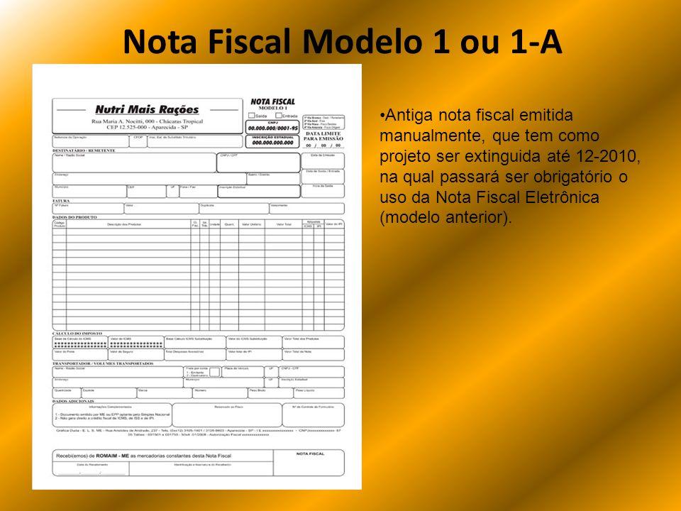 Nota Fiscal Modelo 1 ou 1-A