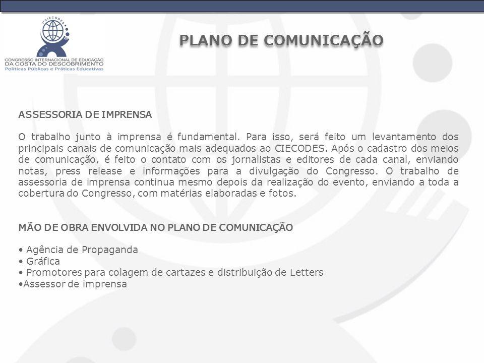 PLANO DE COMUNICAÇÃO ASSESSORIA DE IMPRENSA