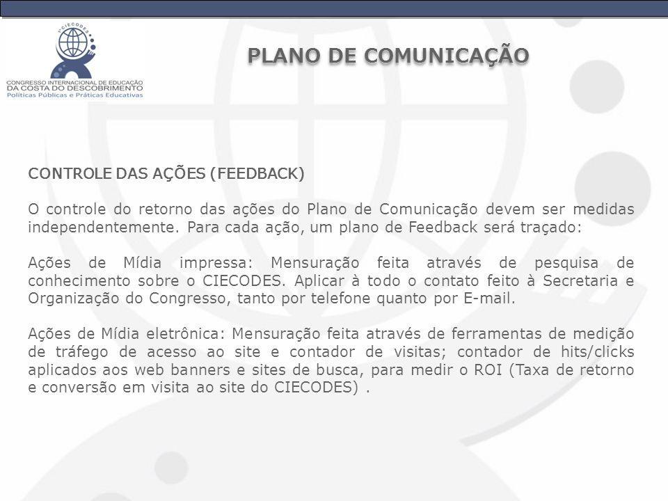 PLANO DE COMUNICAÇÃO CONTROLE DAS AÇÕES (FEEDBACK)