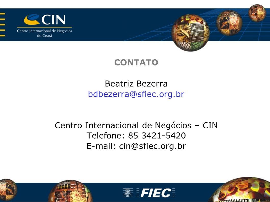 Centro Internacional de Negócios – CIN Telefone: 85 3421-5420