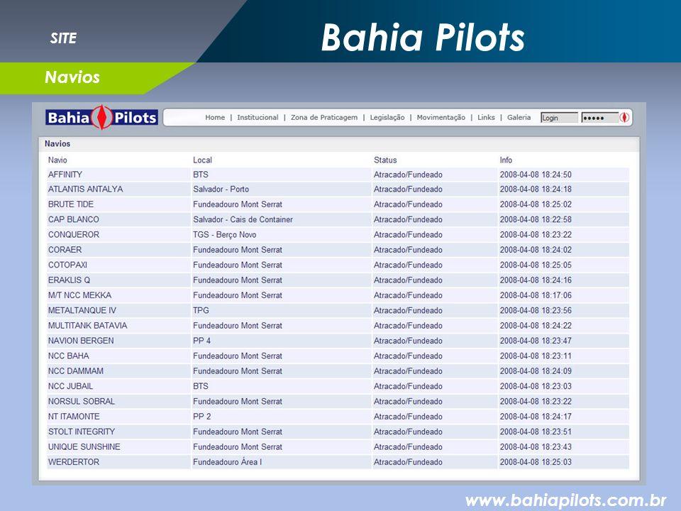 Bahia Pilots SITE Navios www.bahiapilots.com.br