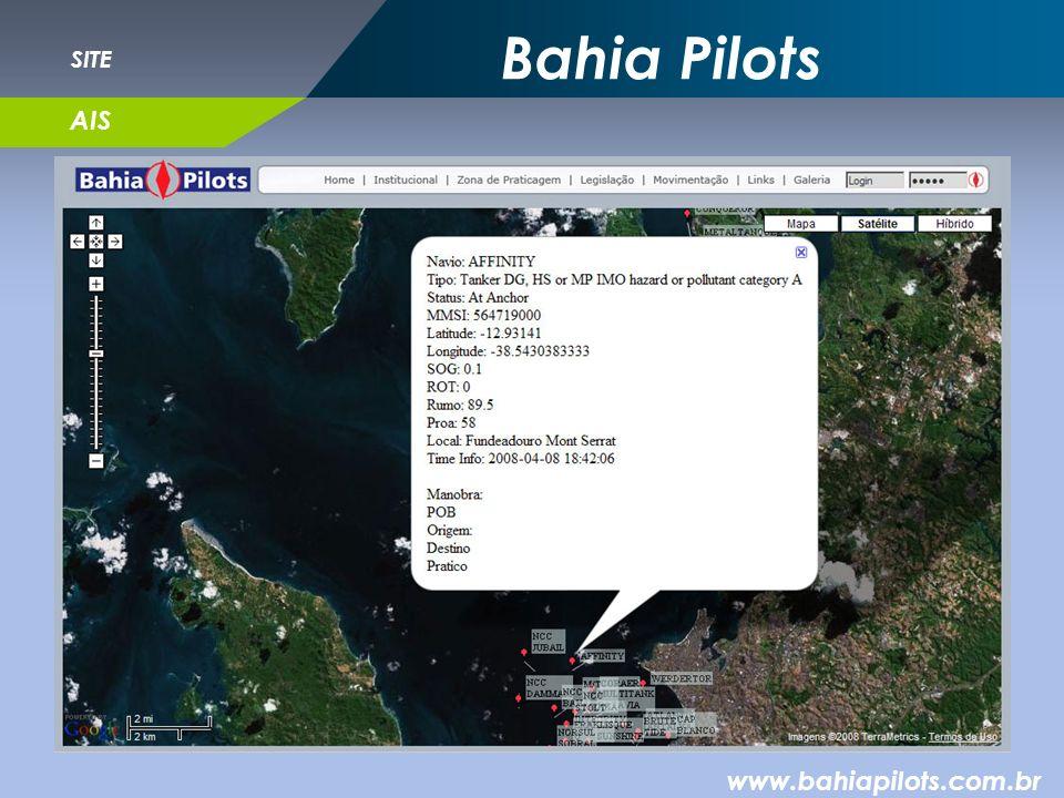 Bahia Pilots SITE AIS www.bahiapilots.com.br