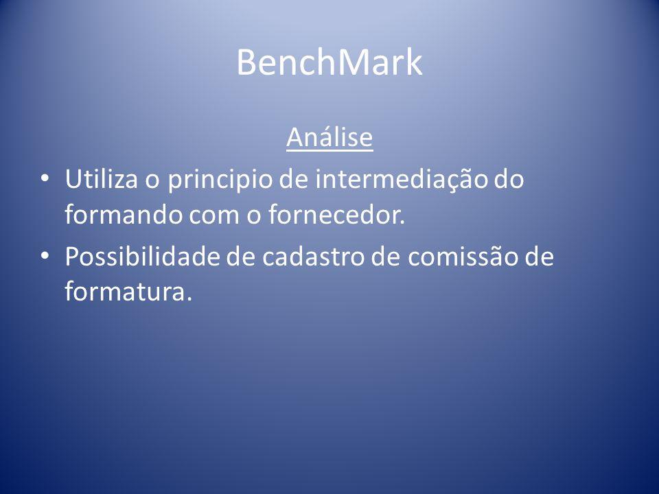 BenchMark Análise. Utiliza o principio de intermediação do formando com o fornecedor.
