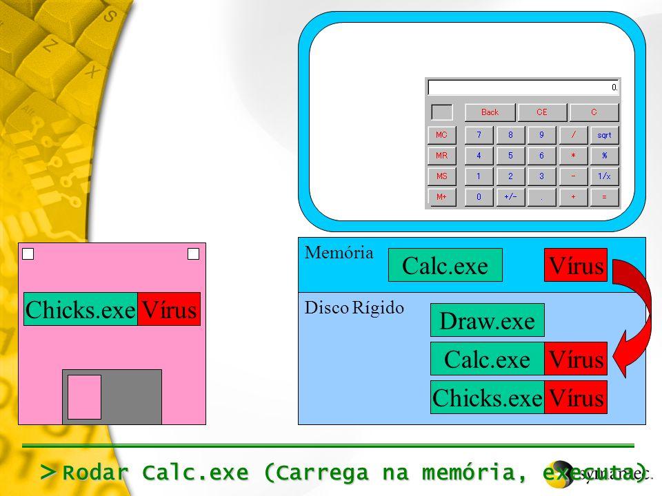 > Calc.exe Vírus Chicks.exe Vírus Draw.exe Calc.exe Vírus