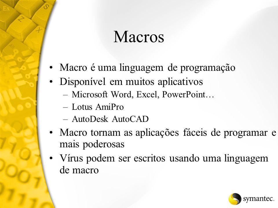 Macros Macro é uma linguagem de programação