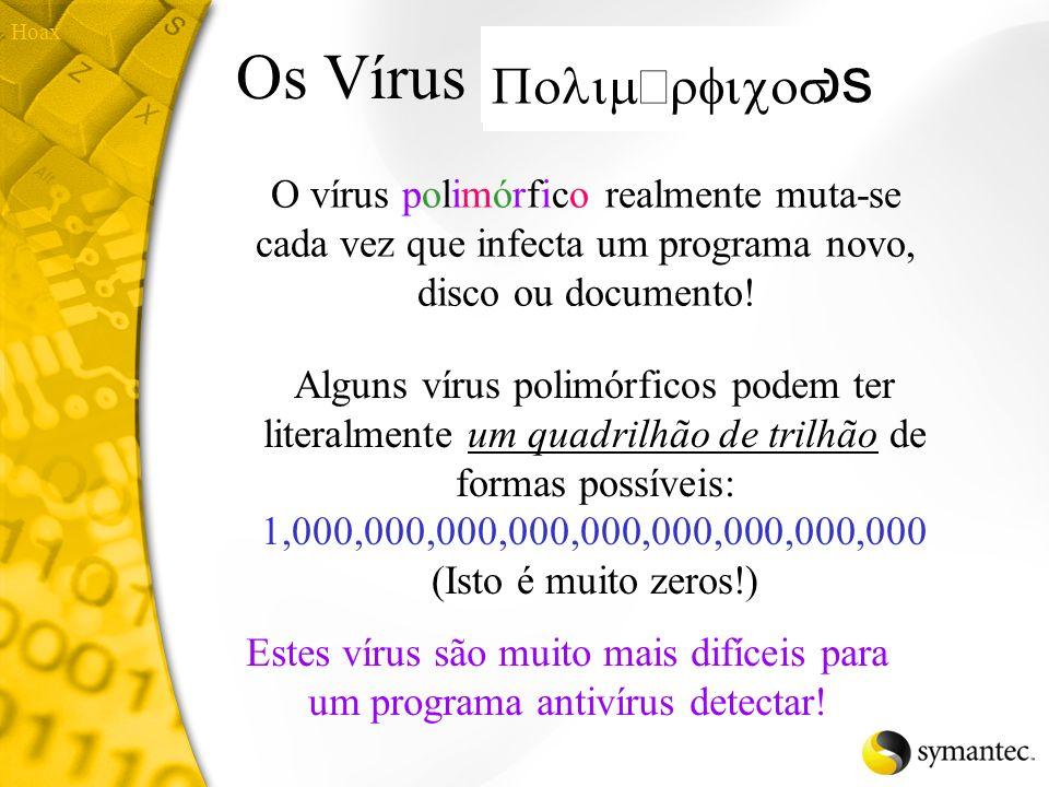 Os Vírus Polimórficos Polimorcicos Polimórficos