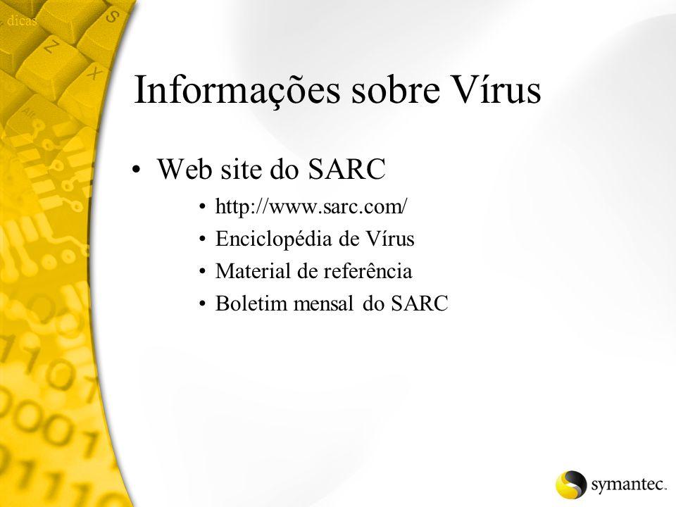 Informações sobre Vírus