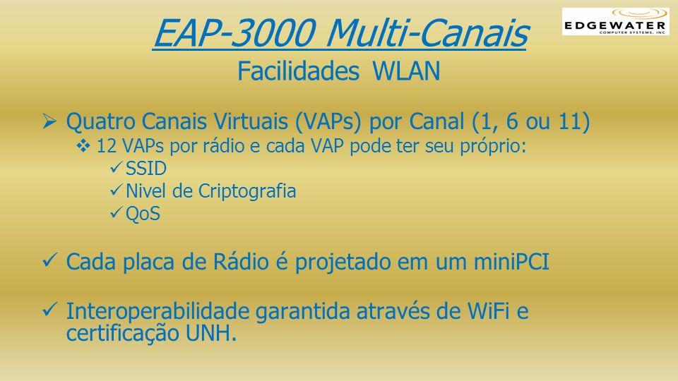 EAP-3000 Multi-Canais Facilidades WLAN