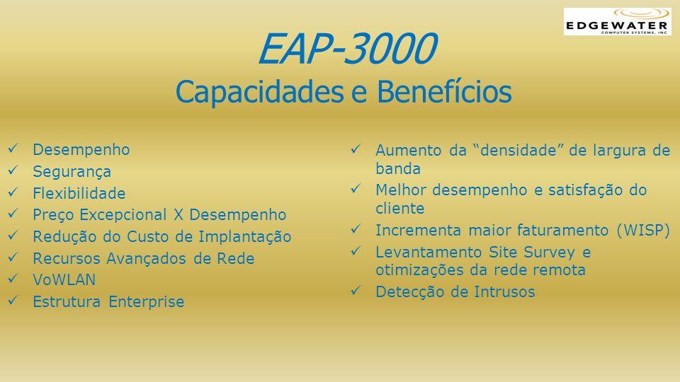 EAP-3000 Capacidades e Benefícios