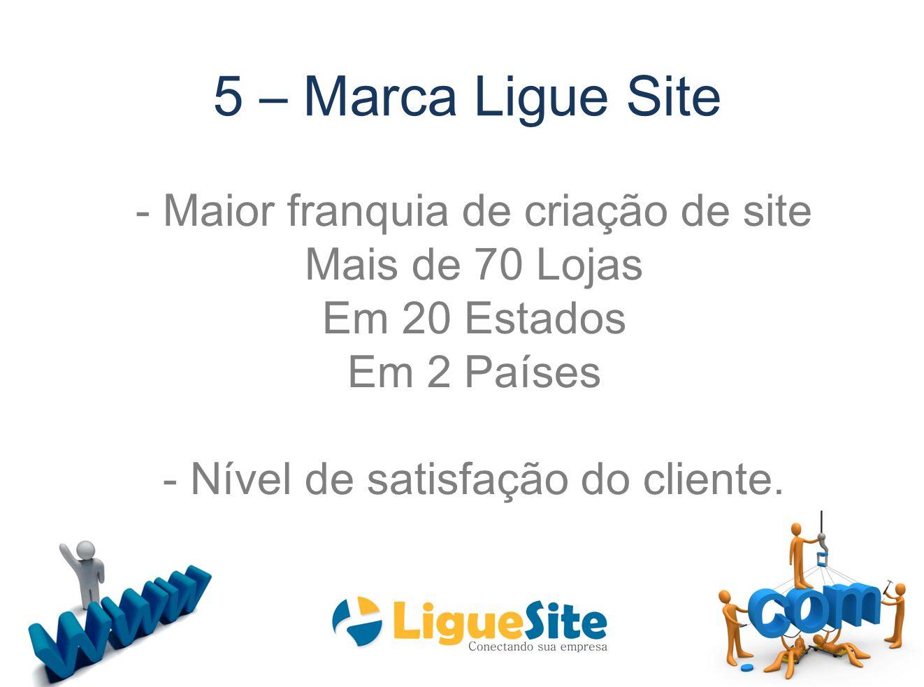 5 – Marca Ligue Site - Maior franquia de criação de site
